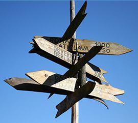 Jimgo persoonlijke route wegwijzers